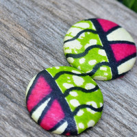 Ankara Fabric, Ankara Studs, African Earrings, Africa Studs, Fabric Button Earrings, Fabric Earrings, Fabric Studs, Ankara Studs, Top Seller