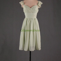 short folded chiffon bridesmaid dresses on sale simple elegant prom dress with straps best party gowns for girls