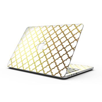 The Golden Morocan Pattern - MacBook Pro with Retina Display Full-Coverage Skin Kit