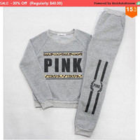 VS Pink Sweat Suits  M, and XL avail