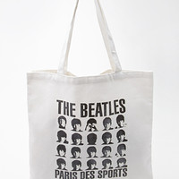 FOREVER 21 The Beatles Canvas Tote Cream/Black One