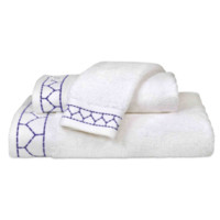 Linah Embroidered Towel Collection Periwinkle