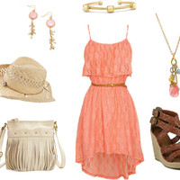 15 Coral Polyvore Outfits Perfect For This Summer - Top Fashion Corner