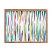 Vy La Bold Breezy Ribbons Rectangular Tray