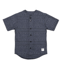 Cotton Wool Baseball Jersey Navy