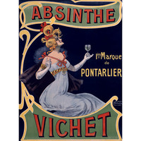 Absinthe Vichet Wine Wood Sign