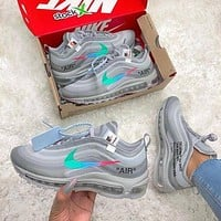 OFF-White x Nike Air Max 97 Sneakers Sport Shoes