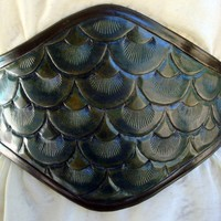 Mermaid Scales Hand Tooled Waist Cincher by ContrivedtoCharm
