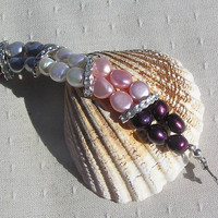 """Multi Colored Freshwater Pearl Bracelet - """"Glamour"""""""