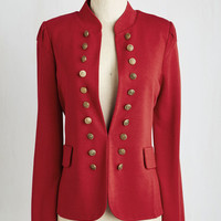 Military Mid-length I Glam Hardly Believe It Jacket in Red