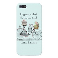 Happiness bike travel cover for iPhone 5 from Zazzle.com