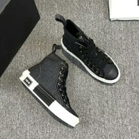 Dior Fashion Women Casual Breathable Sneakers Sport Shoes high top boots top quality black