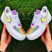 Nike Air Force 1 Low Easter Egg colorful Reflective Breathable Suspension Sneakers