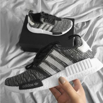 "2017 ""Adidas"" NMD Fashion Trending Women Leisure Running Sports Shoes Black-gray"