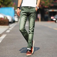 Men Fashion Denim Trousers Pants