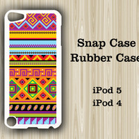 Retro Tribal Geometric iPod Touch 5 and iPod Touch 4 Rubber Case or Plastic Case