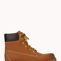 FOREVER 21 Iconic Hiking Boots Tan 8