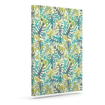 """Kess InHouse Julia Grifol """"Tropical Leaves"""" Outdoor Canvas Wall Art, 24 by 30-Inch"""