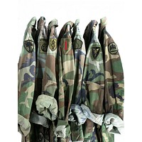 Vintage Army Jacket Military Issued Button Down Camo Shirt Jacket IN YOUR SIZE
