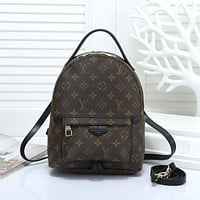 "Samplefine2 ""LV"" Louis Vuitton Casual Wild Retro Plaid Backpack Travel Backpack Bag 2#"