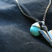 Choose Your Own Path// Pochoantas Inspired Short Chain Necklace feat. Arrowhead & Turquoise