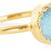 Aqua Drusy Rue Ring, Stone & Novelty Rings