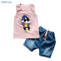 Baby Clothes Children Sports Suits Kids Boys Clothes Sets Summer Cartoon Clothes For Kids Toddler Boys Clothing Sets