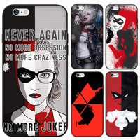 Suicide Squad Girl Lady Women Female 3D Relief Print Harley Quinn Design Case Conque For iPhone 5S SE 6 6S Plus