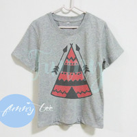 Arrow Native camping tshirt Crew neck sweatshirt Short sleeve t shirt+off white or grey toddlers shirt >>View bust size in inches options