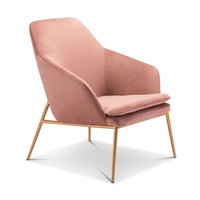 Broyles Arm Chair PINK VELVET