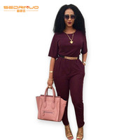 2015 Skinny Playsuit Bodycon Women Long Jumpsuit Lady Summer Short Sleeve Long Pant Overalls Casual Back Open Rompers
