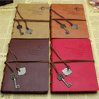 Trendy Novelty Vintage Faux Leather Bound Blank Pages Journal Diary Notebook 3C