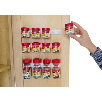 Evelots Spice Clip Strips, Mounted Spice Organizer Rack, Set Of 3 Or Set 6