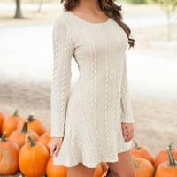 FASHION LONG-SLEEVED SWEATER DRESS