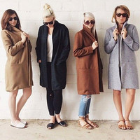 Fashion Women Slim WOOL Warm Long Coat Jacket Trench Windbreaker Parka Outwear = 1956948484