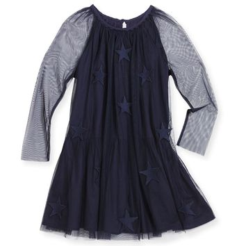 Stella McCartney Girls Star Patched Tulle Dress