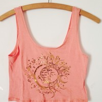 Moon & Sun Crop Tank from Now and Again Co.