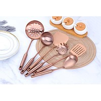 Stainless Steel Rose Gold Kitchen Cooking Tools