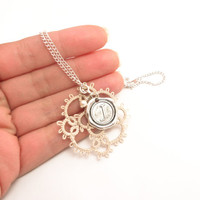 Personalised initial necklace - lace pearl monogram letter - choose your own letter