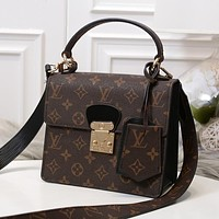 Louis Vuitton  Women Shopping Leather Tote Crossbody Satchel Shoulder Bag