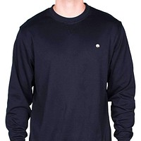 Cotton Boll Embroidered Crewneck Sweatshirt  in Navy by Cotton Brothers