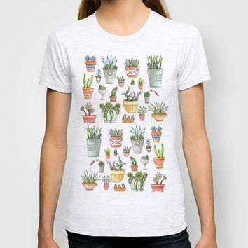 Potted Succulents T-shirt by Brooke Weeber | Society6