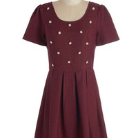 ModCloth Mid-length Short Sleeves A-line Unparalleled Panache Dress