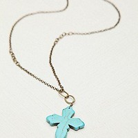 Stone Cross Pendant at Free People Clothing Boutique