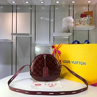 LV Louis Vuitton WOMEN'S MONOGRAM LEATHER BOITE CHAPEAU SOUPLE SHOULDER BAG