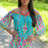 Candy Coated Turquoise Dress