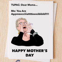 Meryl Streep Shouting Meme Mother's Day Card