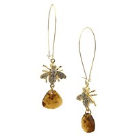 Women's Fashion Dangle Earrings - Gold/Brown