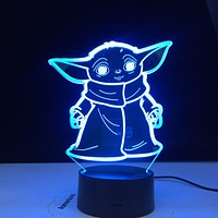 Star Wars Mini Yoda 3d Holographic Lamp