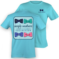Simply Southern Bows Top - Sky Blue
